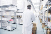 Medical factory supplies storage indoor — Stockfoto