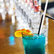 Fresh cocktail drink in night bar — Stock Photo
