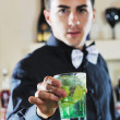 Stock Photo: Pro barmprepare coctail drink on party