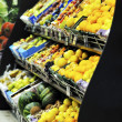 fresh fruits and vegetables in supe market — Stock Photo