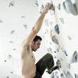 Man exercise sport climbing - Photo