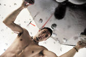 Man exercise sport climbing — Stock Photo