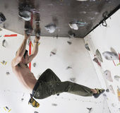 Man exercise sport climbing — Stock Photo