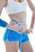 Fitness a cvičení s blond žena — Stock fotografie