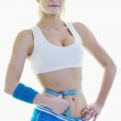 Fitness and exercise with blonde woman — Stock Photo #5650890