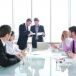 Group of business at meeting — Stock Photo #5687479