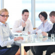 Group of business at meeting — Stock Photo
