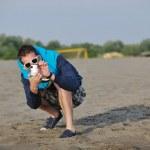 Amateur photographer taking snapshot photo — Stock Photo #5739855