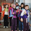 Happy children group in school — Stock Photo #5815955