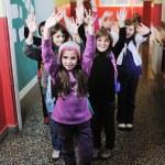 Happy children group in school — Stock Photo #5816012