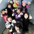 Stock Photo: Happy children group in school