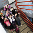 Happy children group in school — Stock Photo #5826552