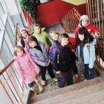 Happy children group in school — Stock Photo #5826954