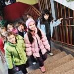 Happy children group in school — Stock Photo #5826959