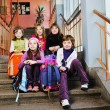 Happy children group in school — Stock Photo #5827051