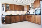 Modern kitchen interior design in new home — Stock Photo