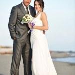 Romantic beach wedding at sunset — Stock Photo #6013519