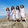 Kids playing on beach — Stock Photo #6016727