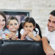 Royalty-Free Stock Photo: Young family at home