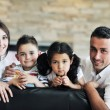 Young family at home — Stock Photo #6019414