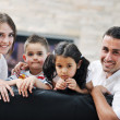 Young family at home — Stock Photo #6019426