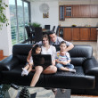 Young family at home — Stock Photo #6019958