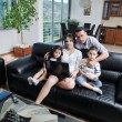 Young family at home — Stock Photo #6019989