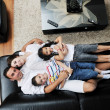 Young family at home — Foto de Stock