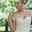 Beautiful bride outdoor — Stock Photo