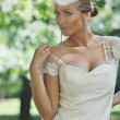 Beautiful bride outdoor — Stock Photo #6137045