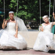 图库照片: Beautiful bride outdoor