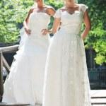 mooie bruid buiten — Stockfoto