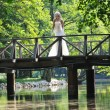 Beautiful bride outdoor — Stock Photo #6137545