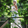 Beautiful bride outdoor — Stock Photo #6137588