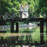 Beautiful bride outdoor — Stock Photo #6137606