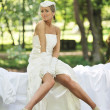 Beautiful bride outdoor - Stock Photo