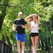 Couple jogging outdoor — Stock Photo