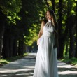 Beautiful bride outdoor — Stock Photo #6137880