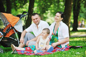 Family at park relaxing and have fun — Foto Stock