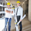 Royalty-Free Stock Photo: Team of architects on construciton site