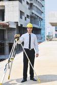 Architect on construction site — Стоковое фото