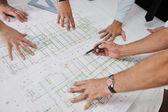 建设网站上建筑师团队 — 图库照片