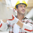 Hard worker on construction site — Stock Photo #6701119