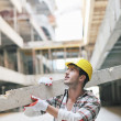 Hard worker on construction site — Stock Photo #6703039