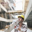 Hard worker on construction site — Stock Photo #6703171