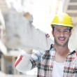 Hard worker on construction site — Stock Photo #6706742