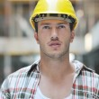 Hard worker on construction site — Stock Photo #6713226