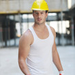 Hard worker on construction site — Stock Photo #6718825