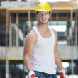 Hard worker on construction site — Stock Photo #6718981