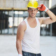 Hard worker on construction site — Stock Photo #6719071
